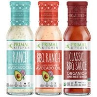 Primal Kitchen Master Ranch Dressing & BBQ Sauce 3 Pack - Avocado Oil Classic Ranch Dressing, Avocado Oil BBQ Ranch Dressing, and Classic BBQ Sauce