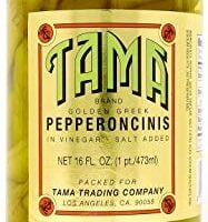 16 Ounce Golden Greek Pepperoncini Peppers in Vinegar and Salt Brine