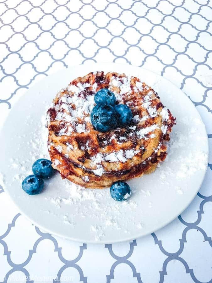 Keto Blueberry Waffles (Blueberry Keto Chaffle)