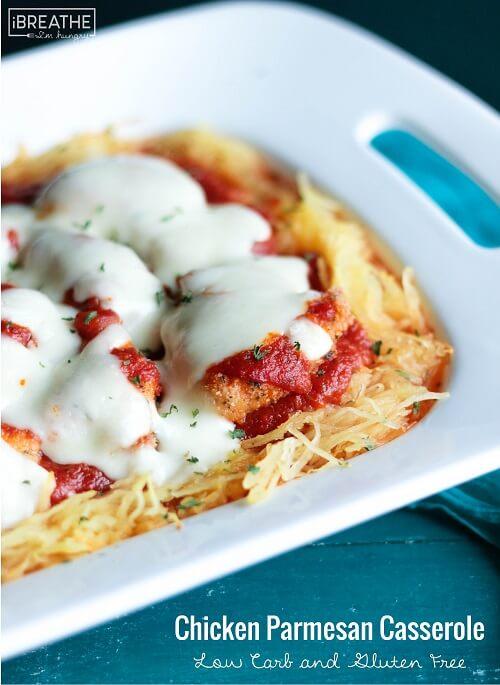Low Carb Chicken Parmesan Casserole - Gluten Free | IBIH