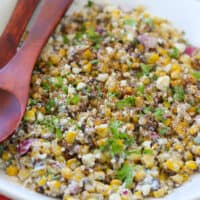 EASY Roasted Corn Esquites Recipe (Mexican Street Corn Salad)