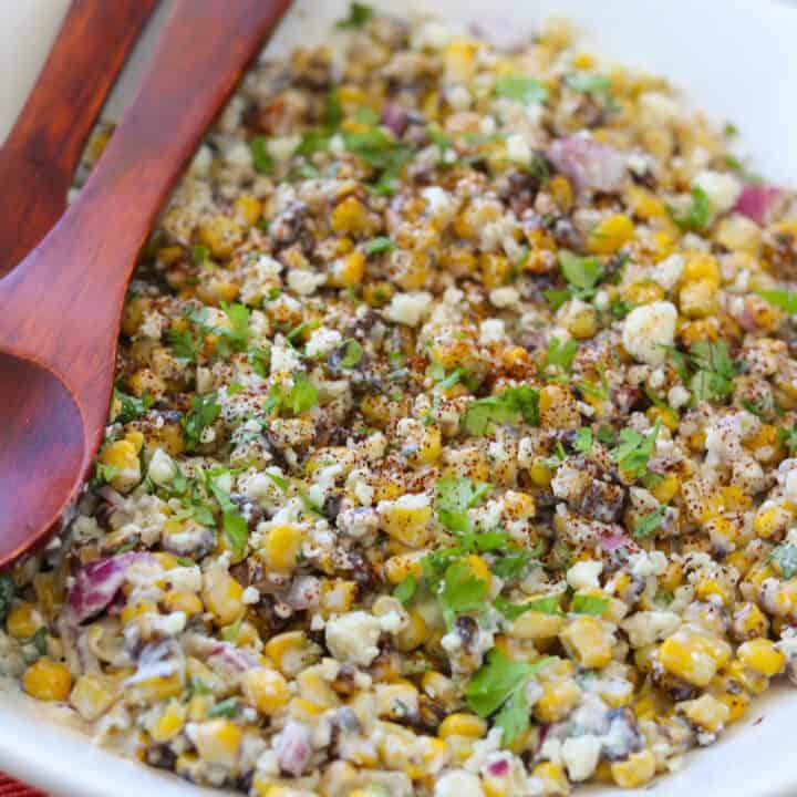EASY Roasted Corn Esquites Recipe (Mexican Street Corn Salad)