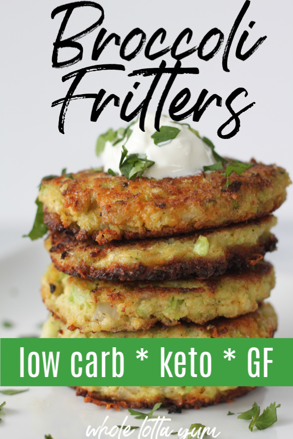 broccoli fritters keto