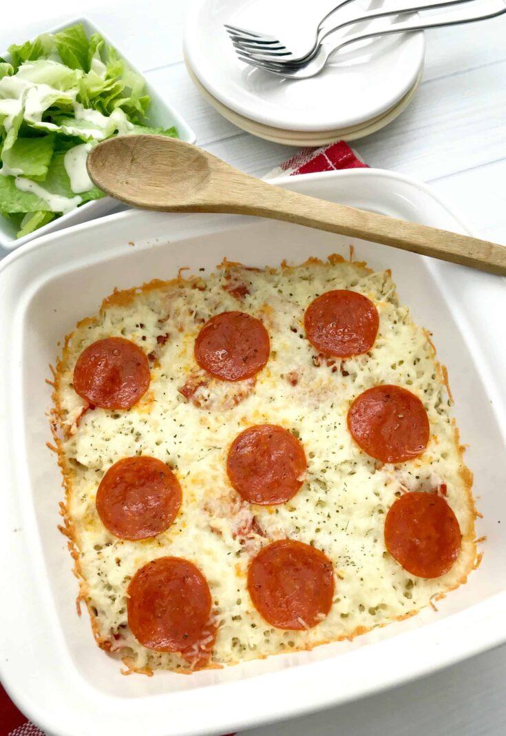 Easy Keto Pizza Casserole