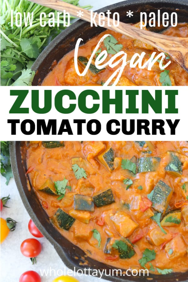 keto vegan curry with zucchini