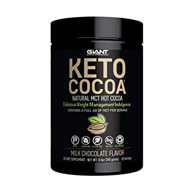 Keto Chocolate Cocoa Mix- Delicious Sugar Free Hot Chocolate Mix with 6g of MCTs for Appetite Suppressing Ketogenic Diet and Low Carb Lifestyle | No Gluten | 20 Servings