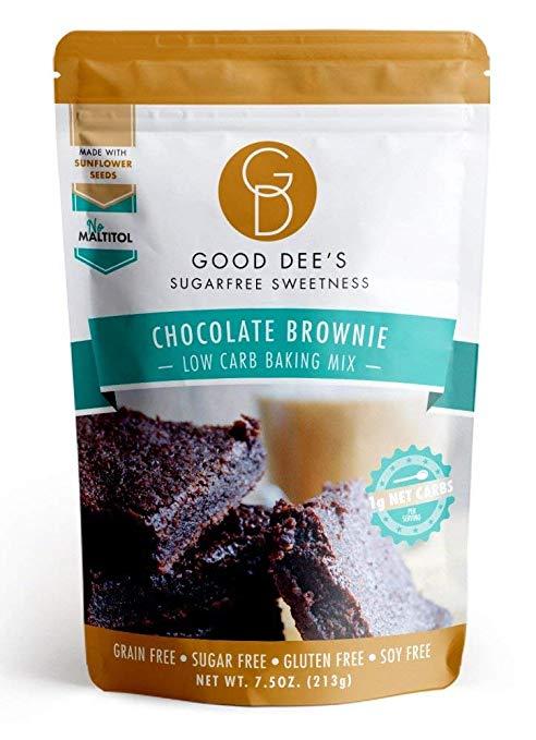 Good Dee's keto Chocolate Brownie Mix - Low Carb, Keto Friendly, Sugar Free, Gluten Free