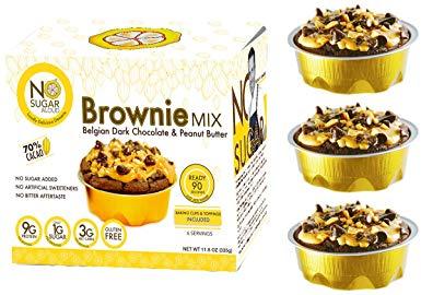 No Sugar Aloud, Keto Chocolate Brownie Mix (No sugar added, gluten free, Vegan, Keto and Diabetic friendly)
