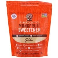 Lakanto, Monkfruit Sweetener with Erythritol, Golden, 8.29 oz (235g) - 2PC
