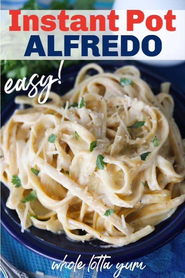 intant pot pasta recipe for alfredo