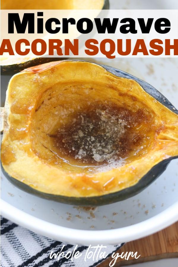 acorn squash microwave Pinterest pin