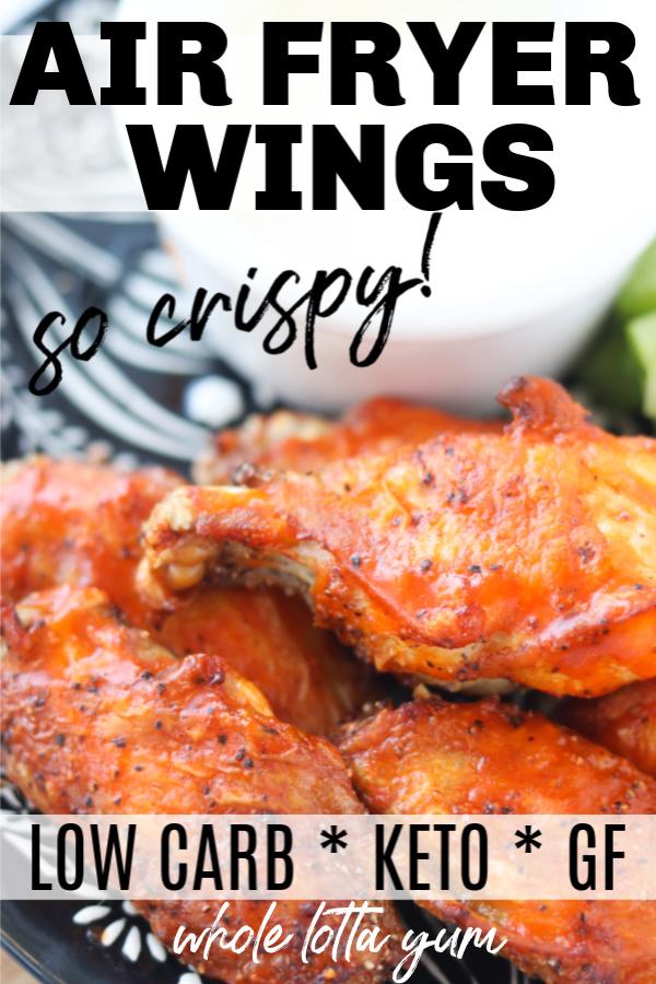 keto air fryer chicken wings
