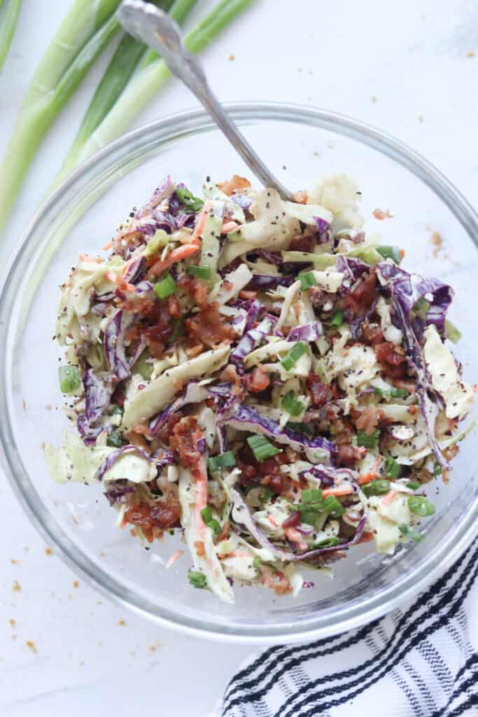 keto coleslaw makes a great low carb side dishes for bbq