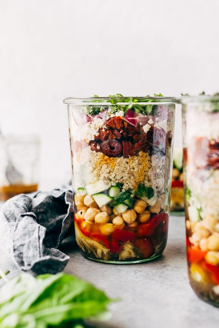 Greek Quinoa Salad Jars Recipe   Little Spice Jar