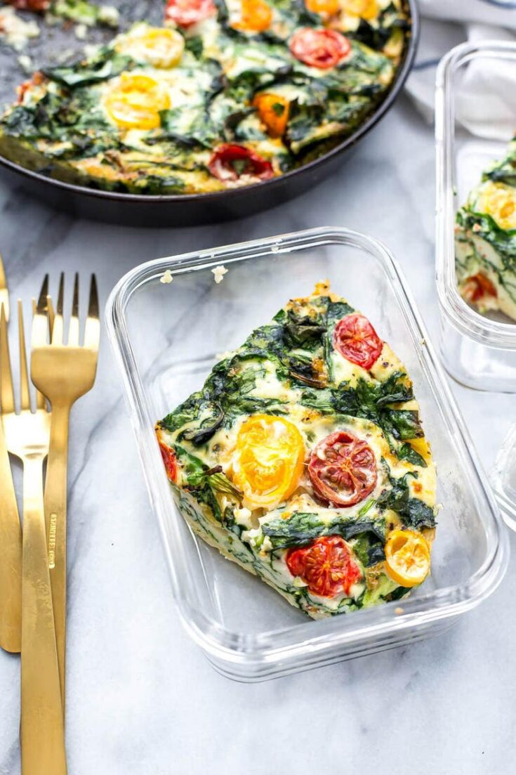 5-Ingredient Meal Prep Egg White Frittata