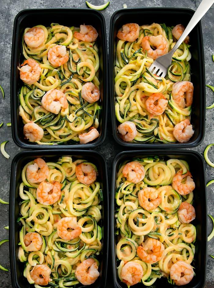 Skinny Bang Bang Zucchini Noodles Meal Prep