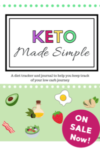 keto journal workbook cover image