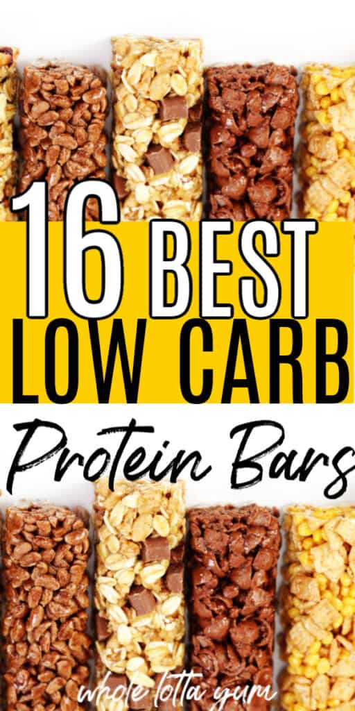 protein bar with low carbs
