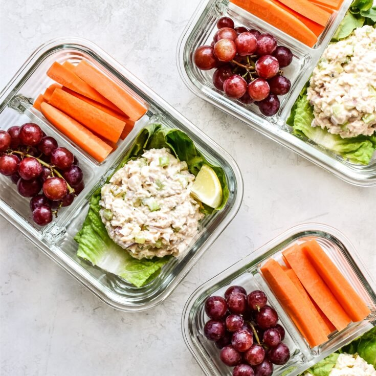 Low Carb Tuna Salad Lettuce Wraps Meal Prep