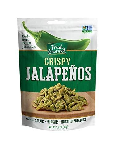 Fresh Gourmet Crispy Jalapenos, Lightly Salted, 3.5 Oz (Pack Of 6)