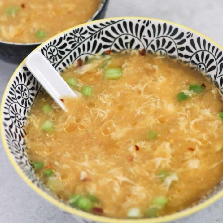 zero carb egg drop soup in a bowl