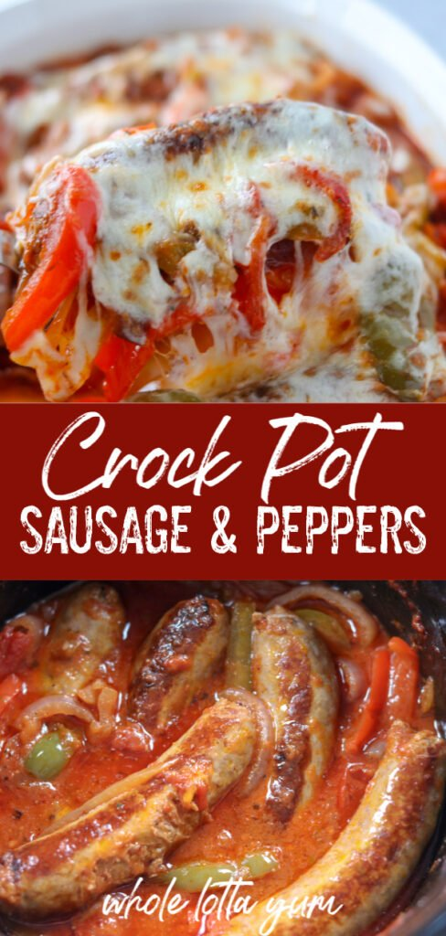 crock pot sausage and peppers