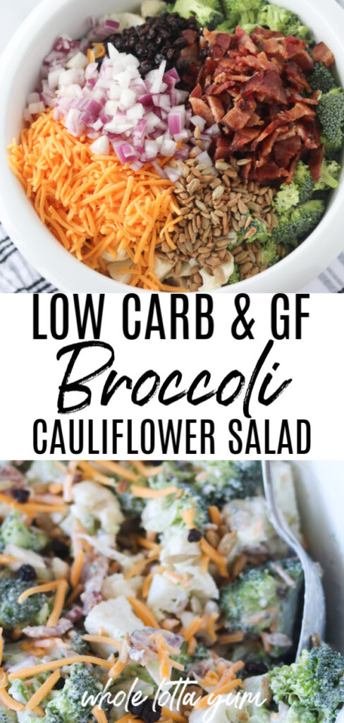 easy broccoli cauliflower salad