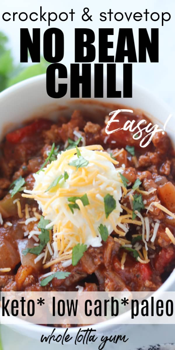 chili without beans pinterest pin