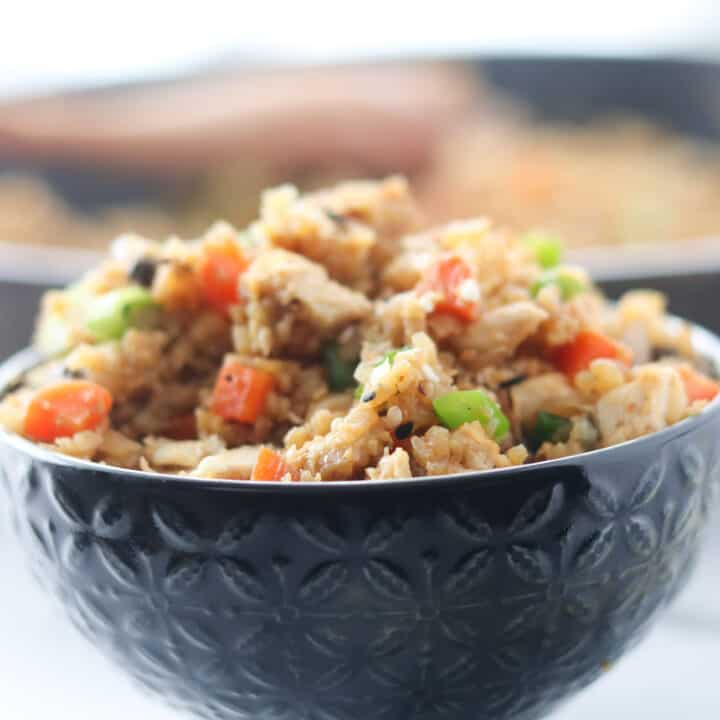 Cauliflower Fried Rice (Keto, Low Carb, Whole30, GF)