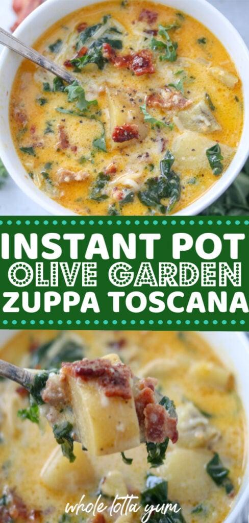 pressure cooker zuppa toscana