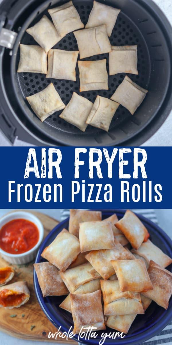air fryer frozen pizza rolls Pinterest pin