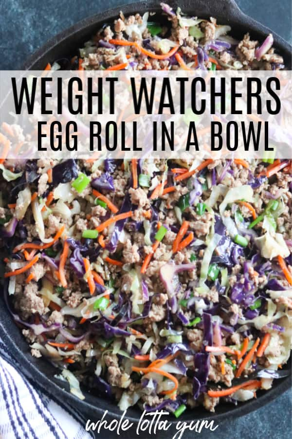 egg roll in a bowl weight watchers Pinterest pin