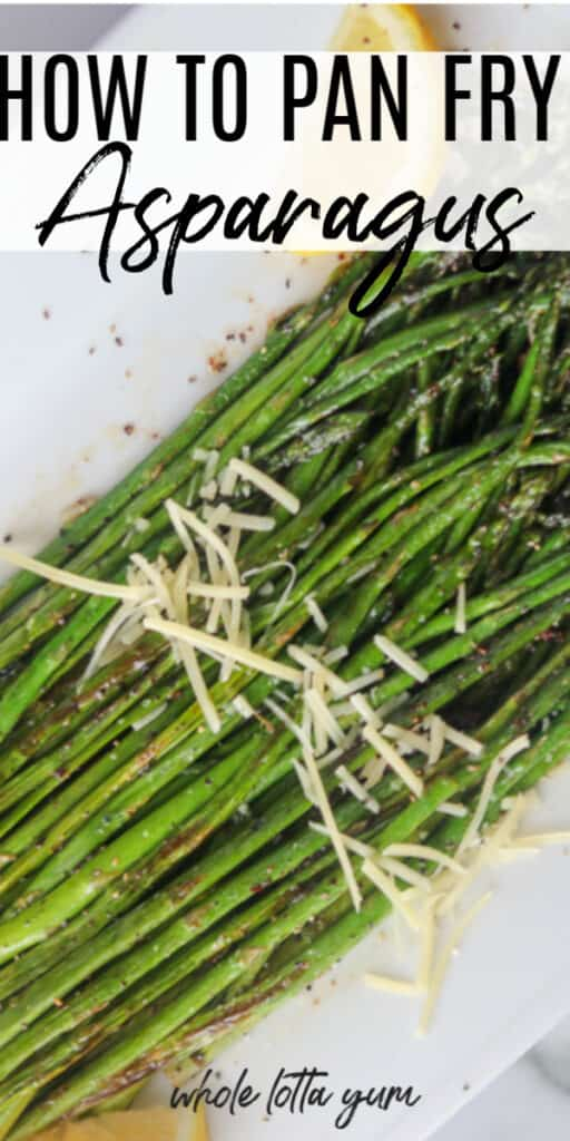 how to pan cook asparagus
