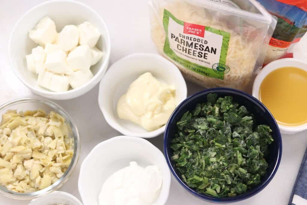 ingredients for spinach dip in instant pot