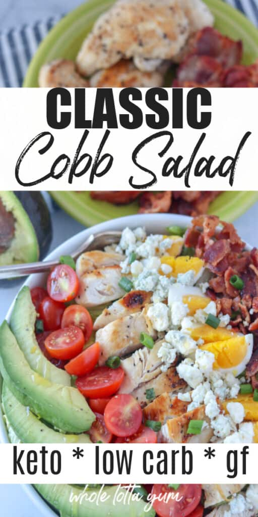 keto cobb salad recipe pin