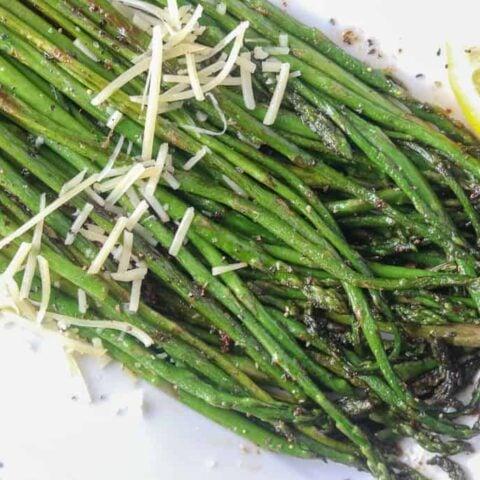 pan frying asparagus