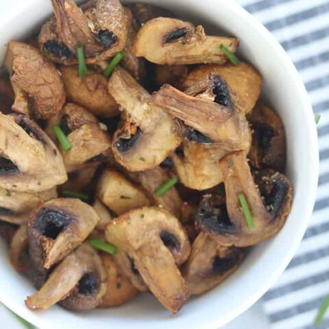 Roasted Air Fryer Mushrooms with Garlic