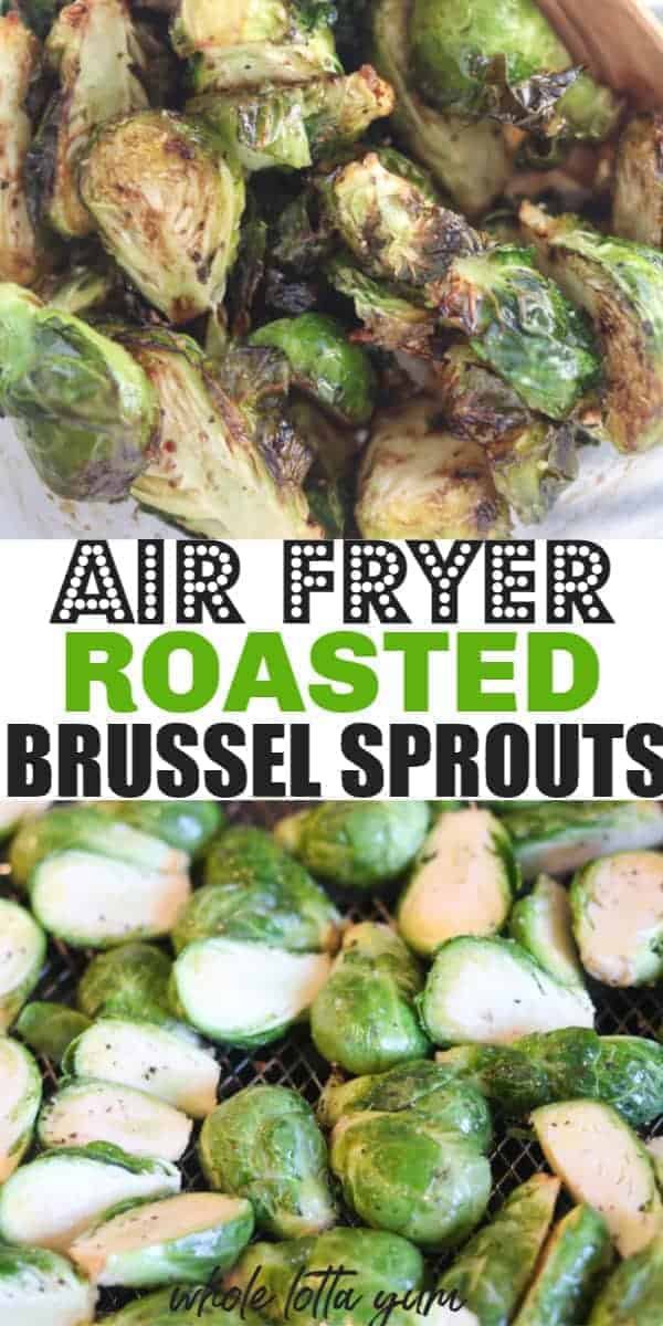 a 2nd brussel sprouts air fryer Pinterest pin