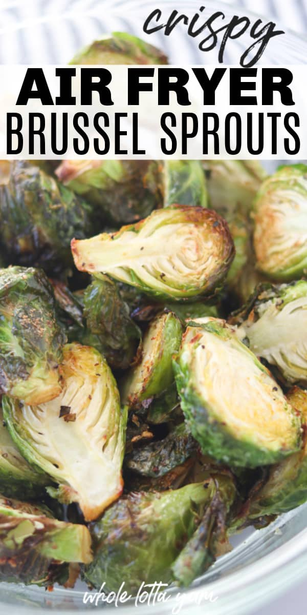 brussel sprouts in air fryer pin for Pinterest