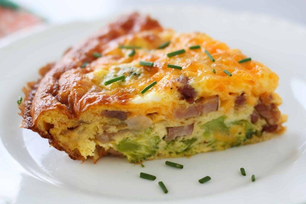 keto quiche recipe on a plate