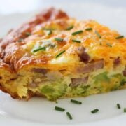 keto quiche recipe on a plate