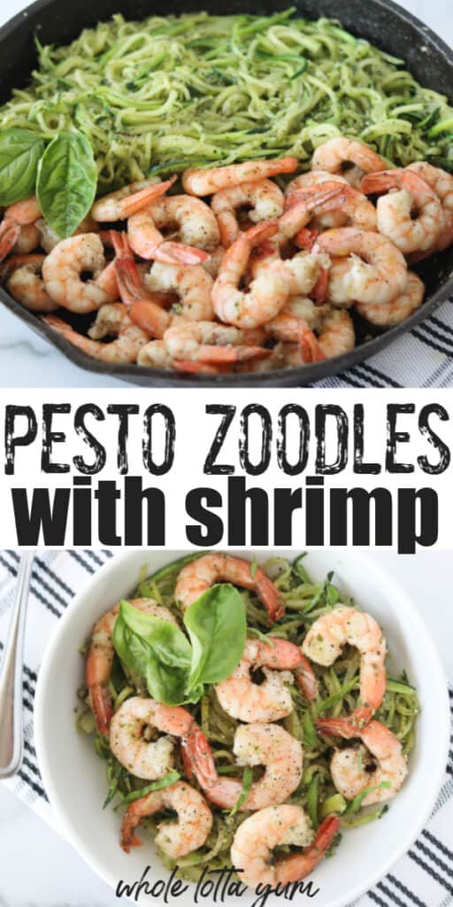 keto zucchini noodles with shrimp