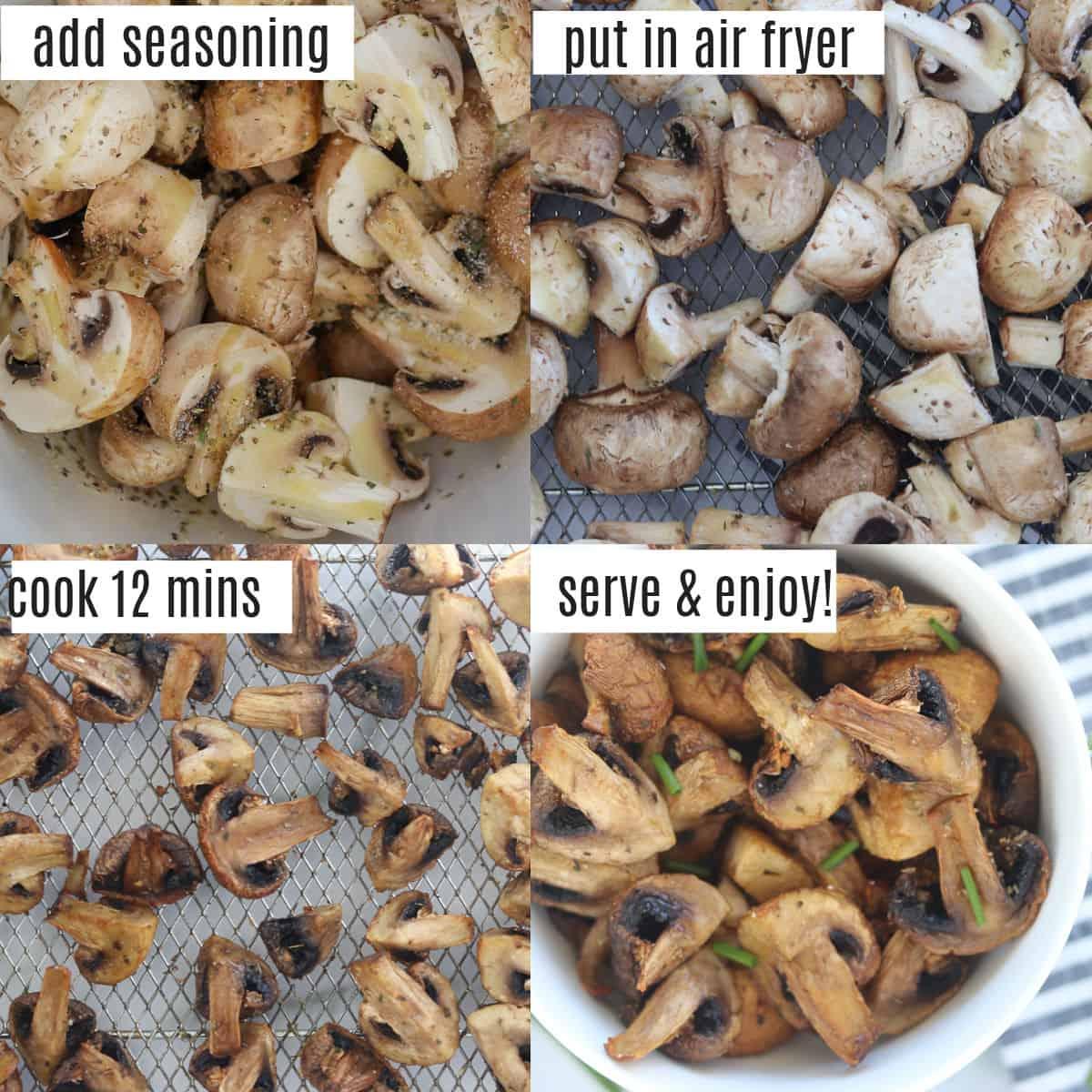 mushrooms air fryer recipe steps image