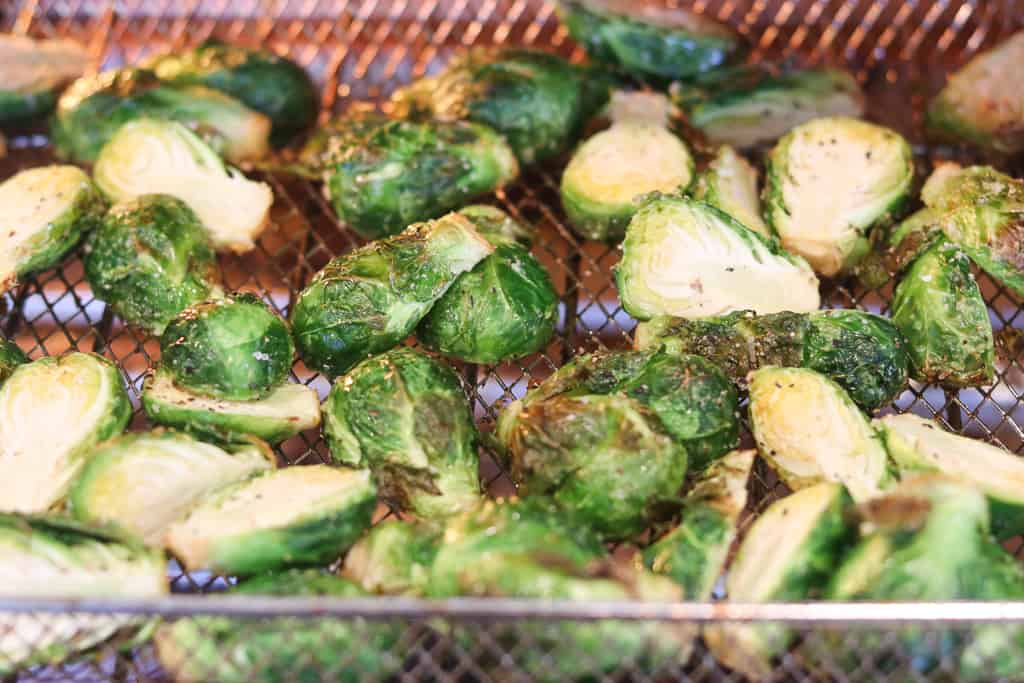roasted air fryer brussel sprouts recipe