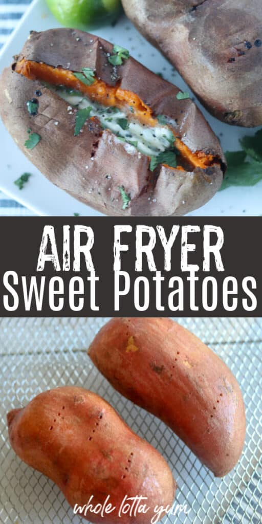 sweet potato in air fryer Pinterest pin