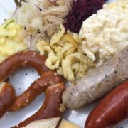 ideas on what to serve with bratwurst on a plate