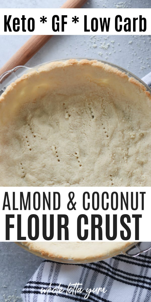 low carb pie crust pin for Pinterest