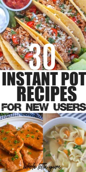 easy instapot recipes