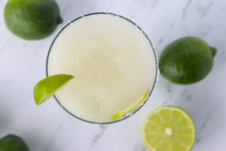 keto margaritas top down view