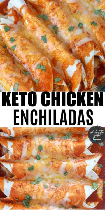 low carb chicken enchiladas pinterest pin